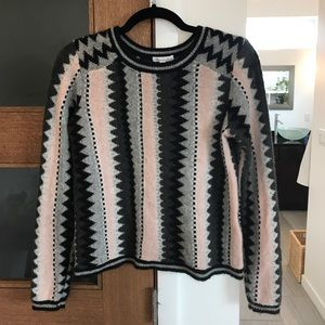 Minnie Rose Patterned Cashmere Sweater